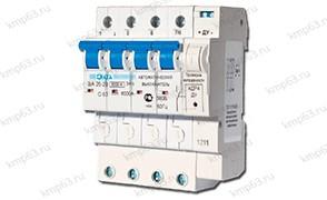 Выключатель автоматический с дополнительными расцепителями ВА 25-29 3-фазный 4ДР4 16А (B)