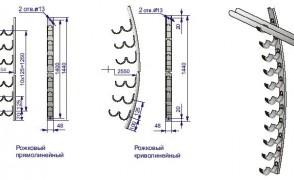 Рожковый кронштейн криволинейный в комплекте Р2К11цУТ1 5
