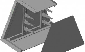 ККБ -УВ-0,6/0,5 Короб кабельный блочный угловой вертикальный вверх S=1,5 мм
