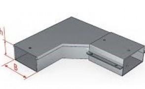 Короб угловой горизонтальный У 1109 УТ1,5 S=1,0 мм.