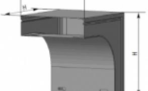 Короб угловой вниз У 1108 УТ1,5 S=1,2 мм.