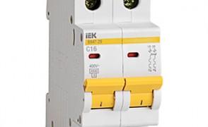 Выключатель автоматический ВА25-29(B) 1-полюсный+N 13А