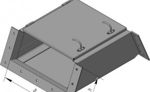 ККБ -УВП-0,2/0,5-2 Короб кабельный блочный плоский угловой одноканальный горизонтальный S=1,5 мм