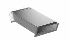 ККБ-УНП-0,2/0,5-2 Короб кабельный блочный плоский угловой одноканальный вертикальный вниз S=1,5 мм