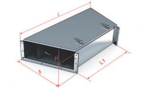 ККБ -УГП-0,2/0,5-2 Короб кабельный блочный плоский угловой одноканальный горизонтальный S=1,5 мм
