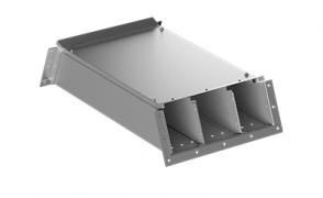 ККБ -2УВП 0,2/0,5 Короб кабельный блочный угловой вертикальный вверх S=2,0 мм